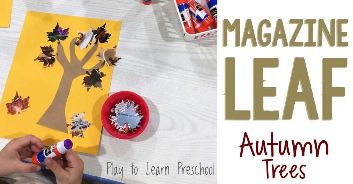 Magazine Leaves Glue Stick Practice Art Project