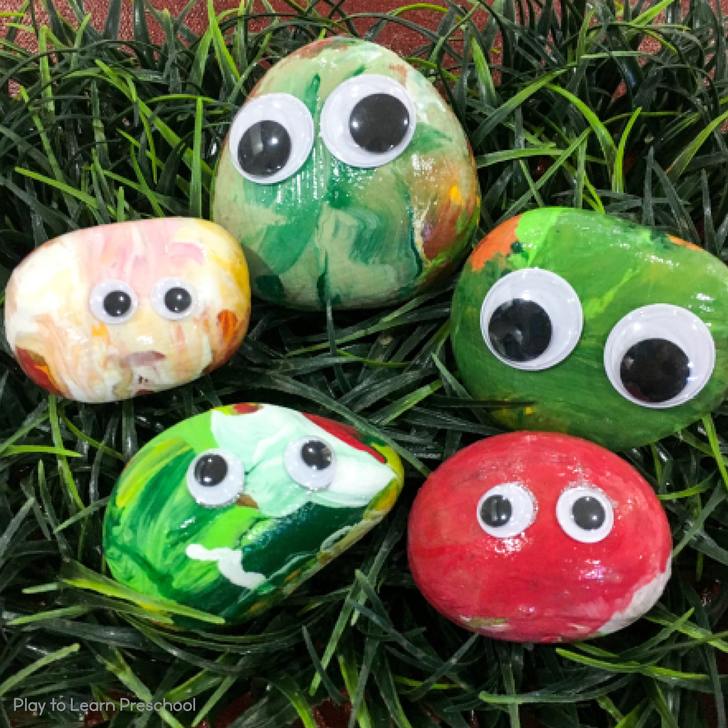 Pet Rocks Process Art Project for Preschoolers