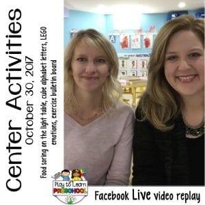 FB Live Preschool Centers 10-30-17