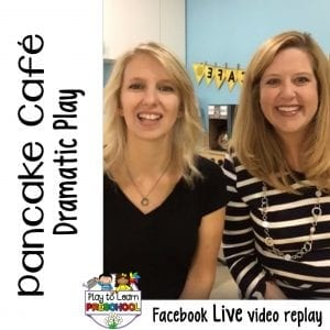 FB Live video Pancake Cafe Dramatic Play Center