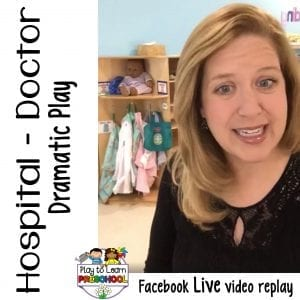 FB Live Hospital Dramatic Play