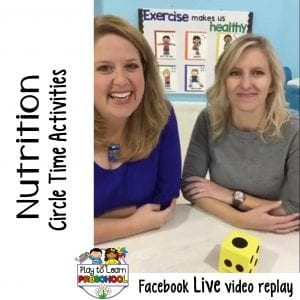 FB Live Nutrition Circle Time Activities