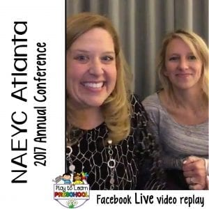FB Live NAEYC Conference 2017 Atlanta