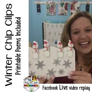 FB Live Winter Chip Clip Poems