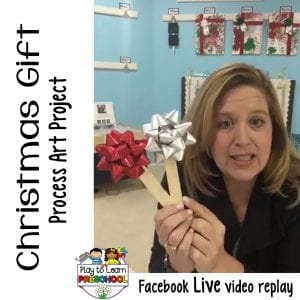 FB Live Christmas Gift Process Art Project