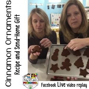 FB Live Old-Fashioned Cinnamon Ornaments