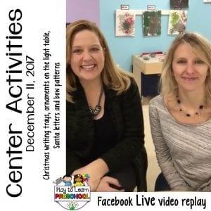 FB Live Christmas Centers