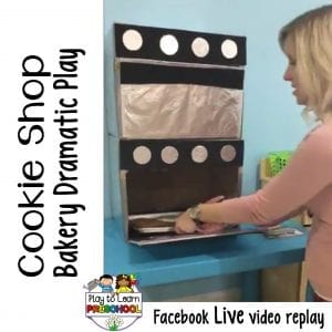 FB Live Cookie Shop Bakery Dramatic Play Center