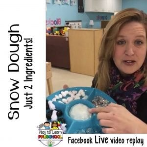FB Live 2-Ingredient Snow Dough