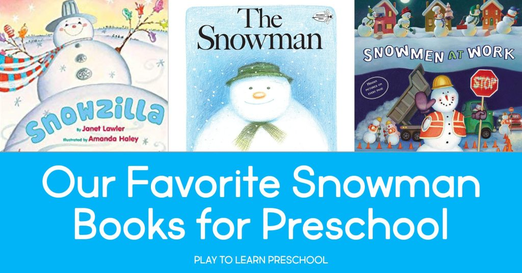 Snowman Books to read aloud to preschoolers