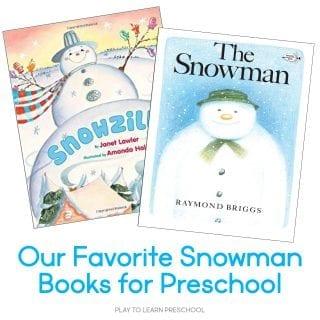Snowman Books to read aloud to preschoolers