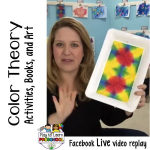 Color Theory Activities, Books and Art for Preschoolers