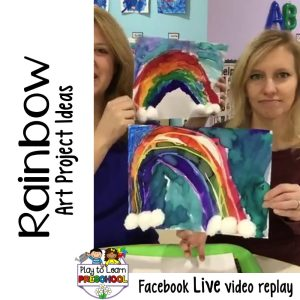 Rainbow Art Projects for Preschoolers