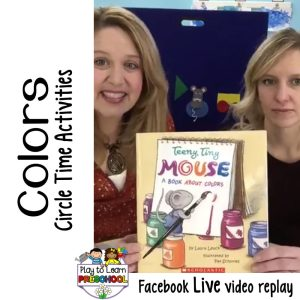 Circle Time lesson for preschoolers about Colors