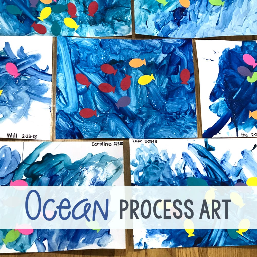 Ocean Process Art Painting Project for Preschoolers