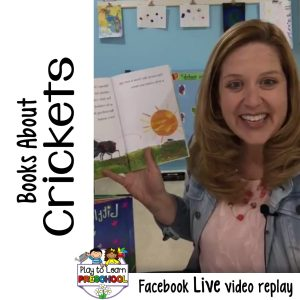 Books about Crickets for Preschoolers
