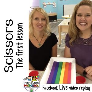 Teaching Preschoolers to use Scissors - the first lesson