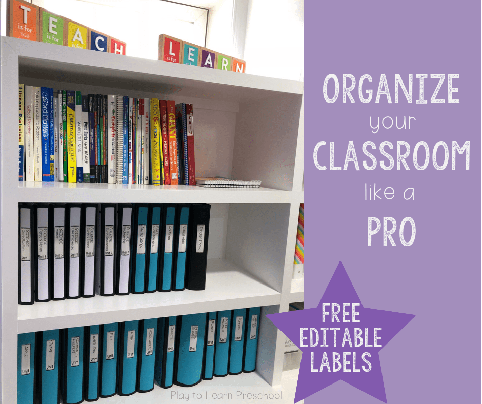 Classroom Organization tips labels