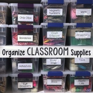 Organize classroom supplies with free editable labels