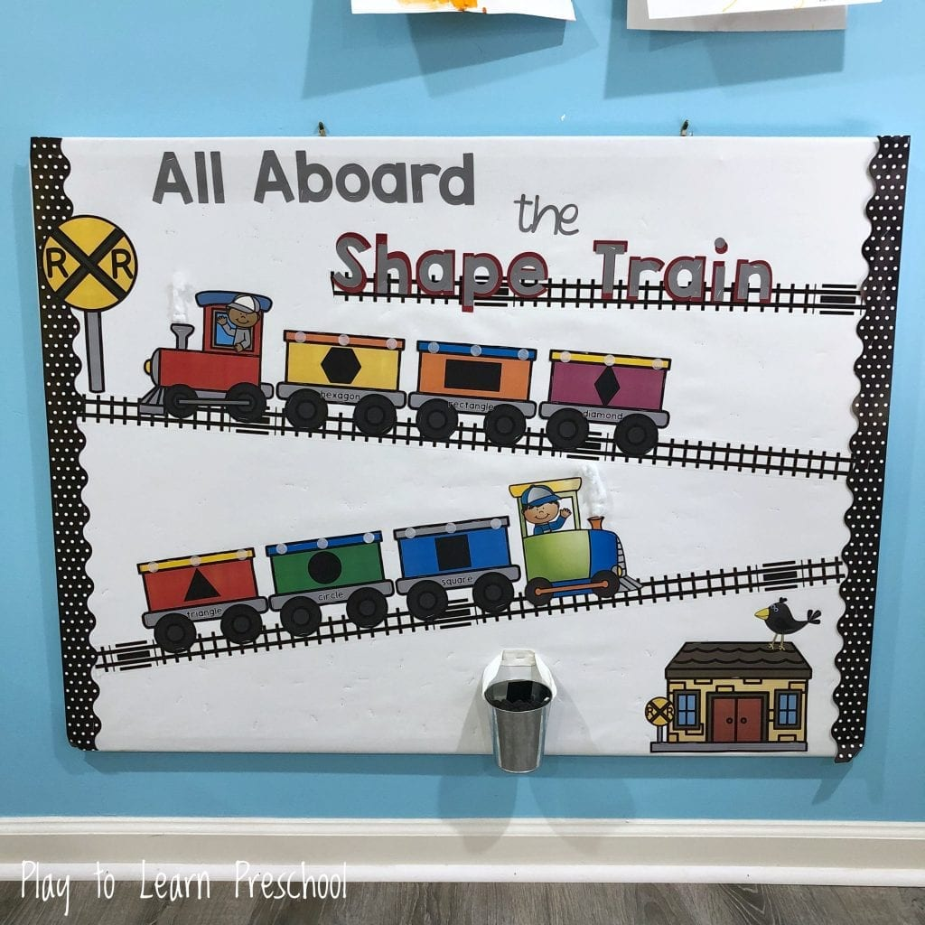 Shape Train Interactive Bulletin Board for Preschoolers