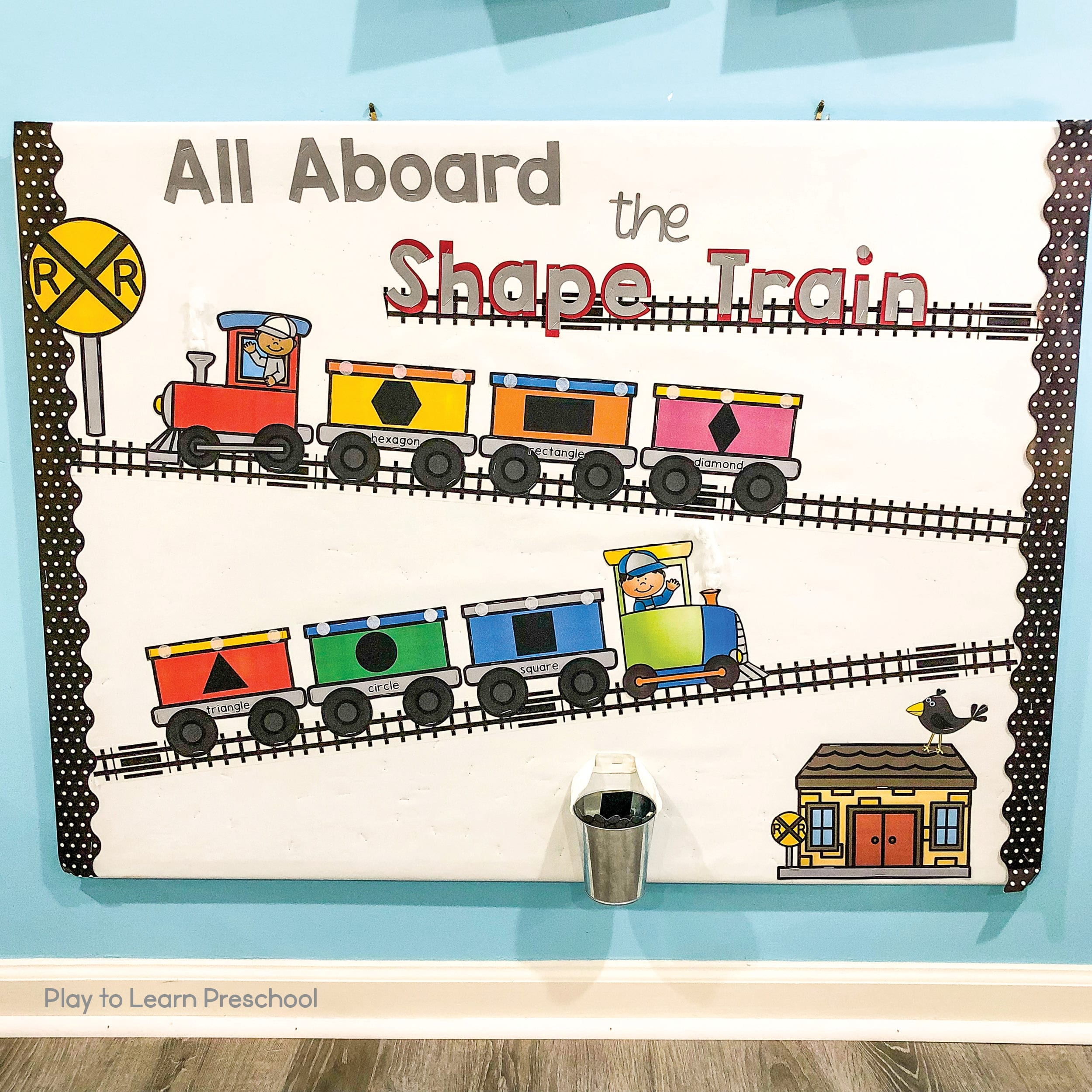 Shape Train interactive Bulletin Board