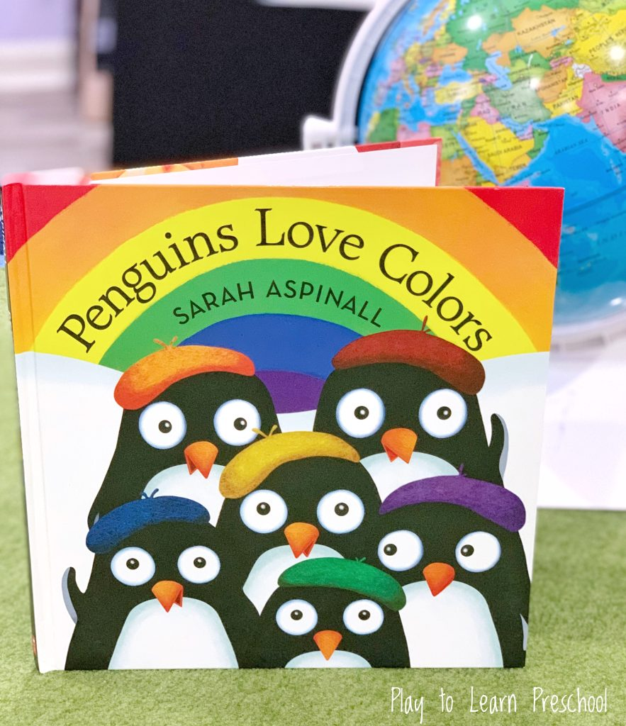 Penguins Love Colors Watercolor Process Art for Preschoolers