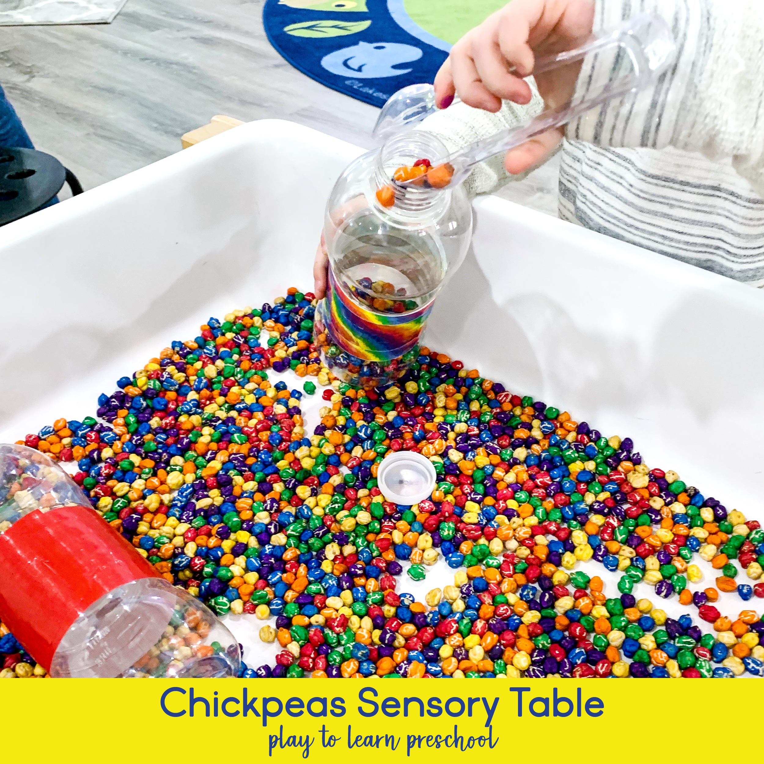Chickpea Sensory Table Play Ideas for Preschoolers