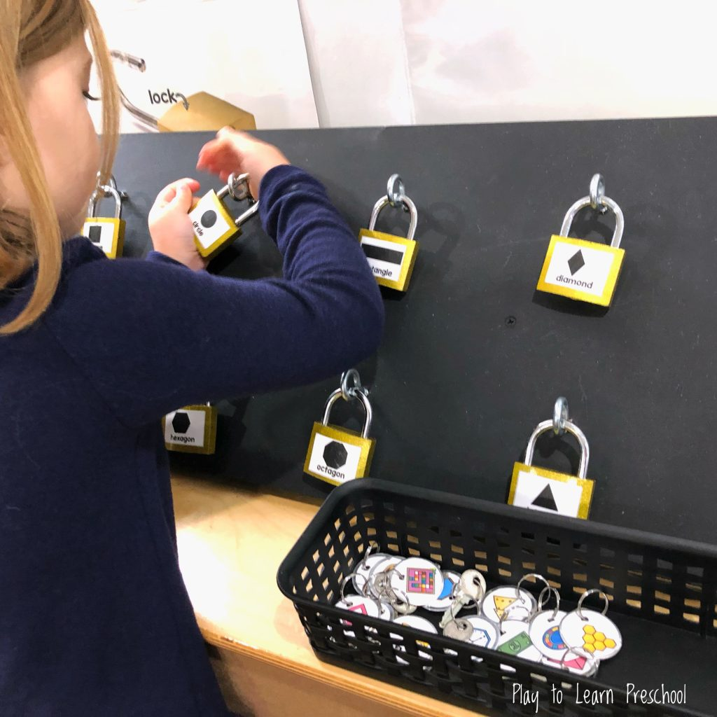 Shape Games STEM Activity for Preschoolers