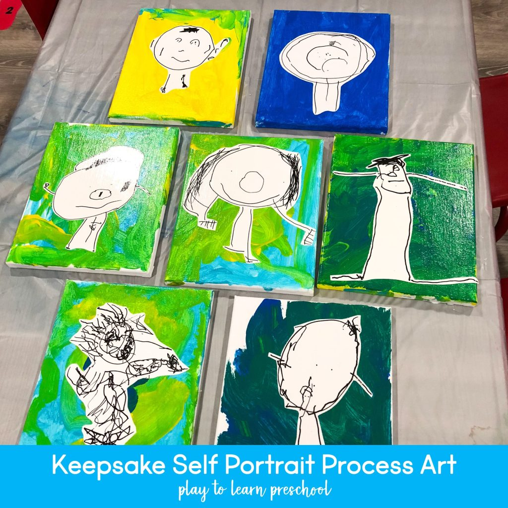 Keepsake Self Portrait Process Art