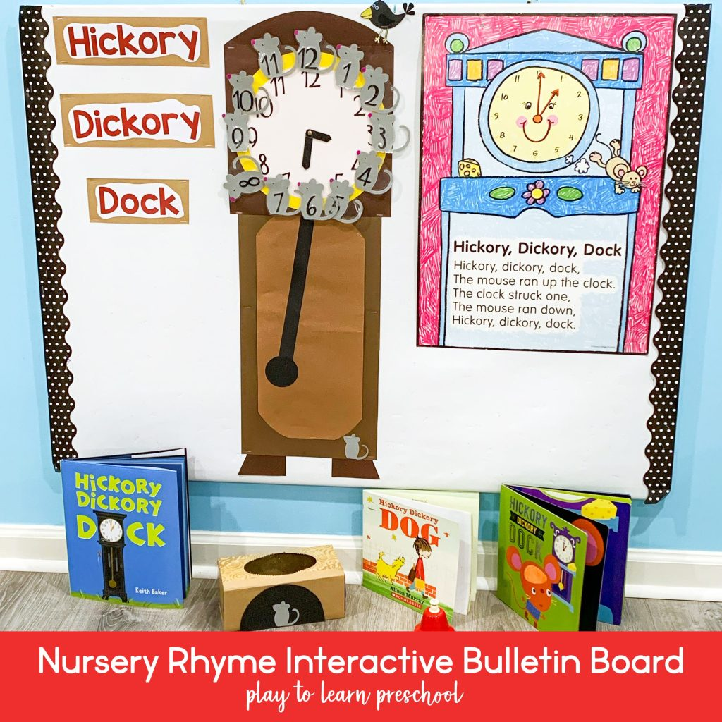 Nursery Rhyme Interactive Bulletin Board for Preschoolers