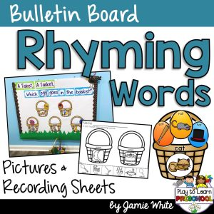 Rhyming Center Interactive Bulletin Board for Preschoolers