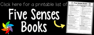 link to printable 5 senses books