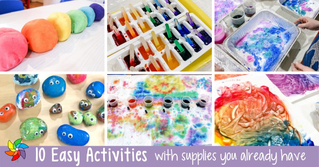 10 Easy Preschool Activities Using Supplies You Already Have