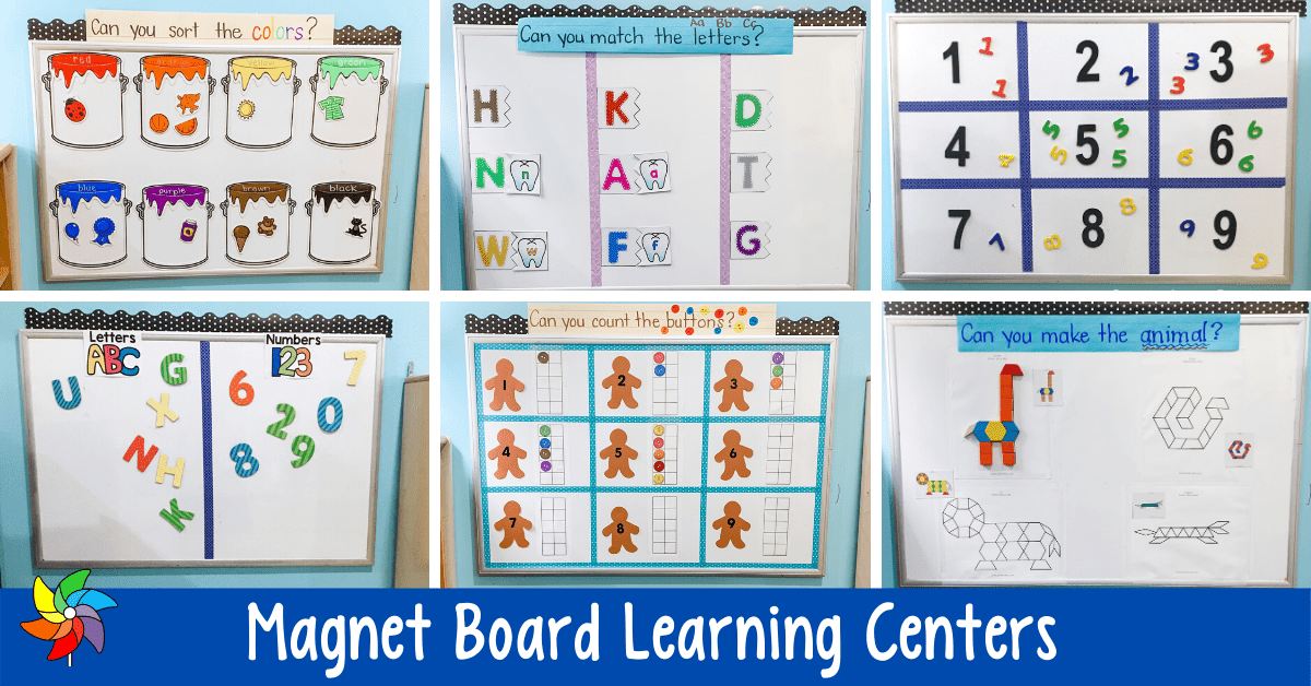 10 Magnet Board Centers Learning On A Vertical Surface