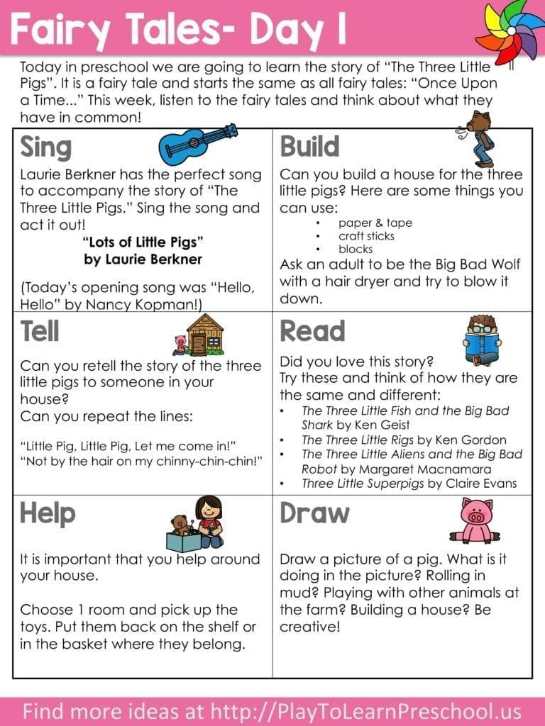 Virtual Preschool Circle Time Fairy Tales Play To Learn