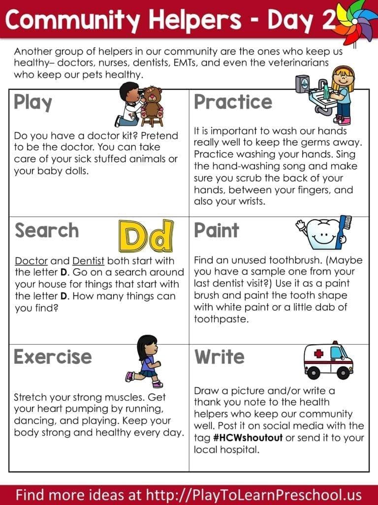 Community Helpers Circle Time Virtual Preschool