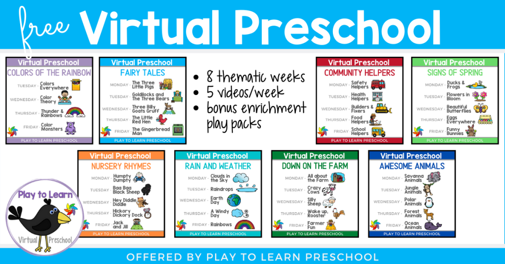 Virtual Preschool Circle Time Lessons