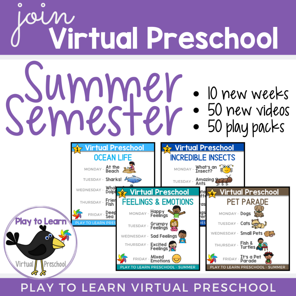 Join Virtual Preschool Summer Semester with Play to Learn Preschool