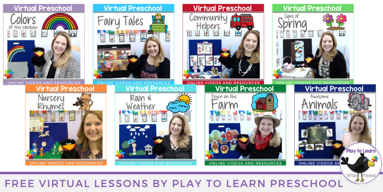 Free Virtual Preschool Video Lessons