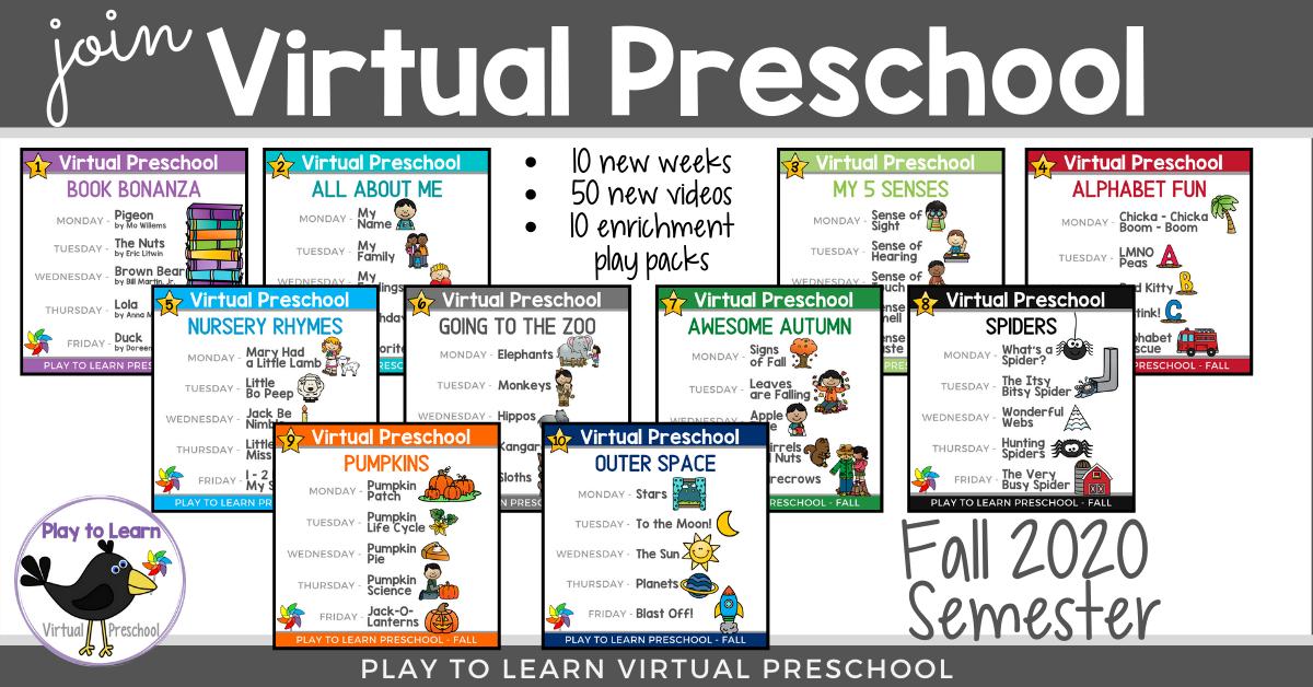 Join Virtual Preschool Winter 2020 Semester Begins Soon