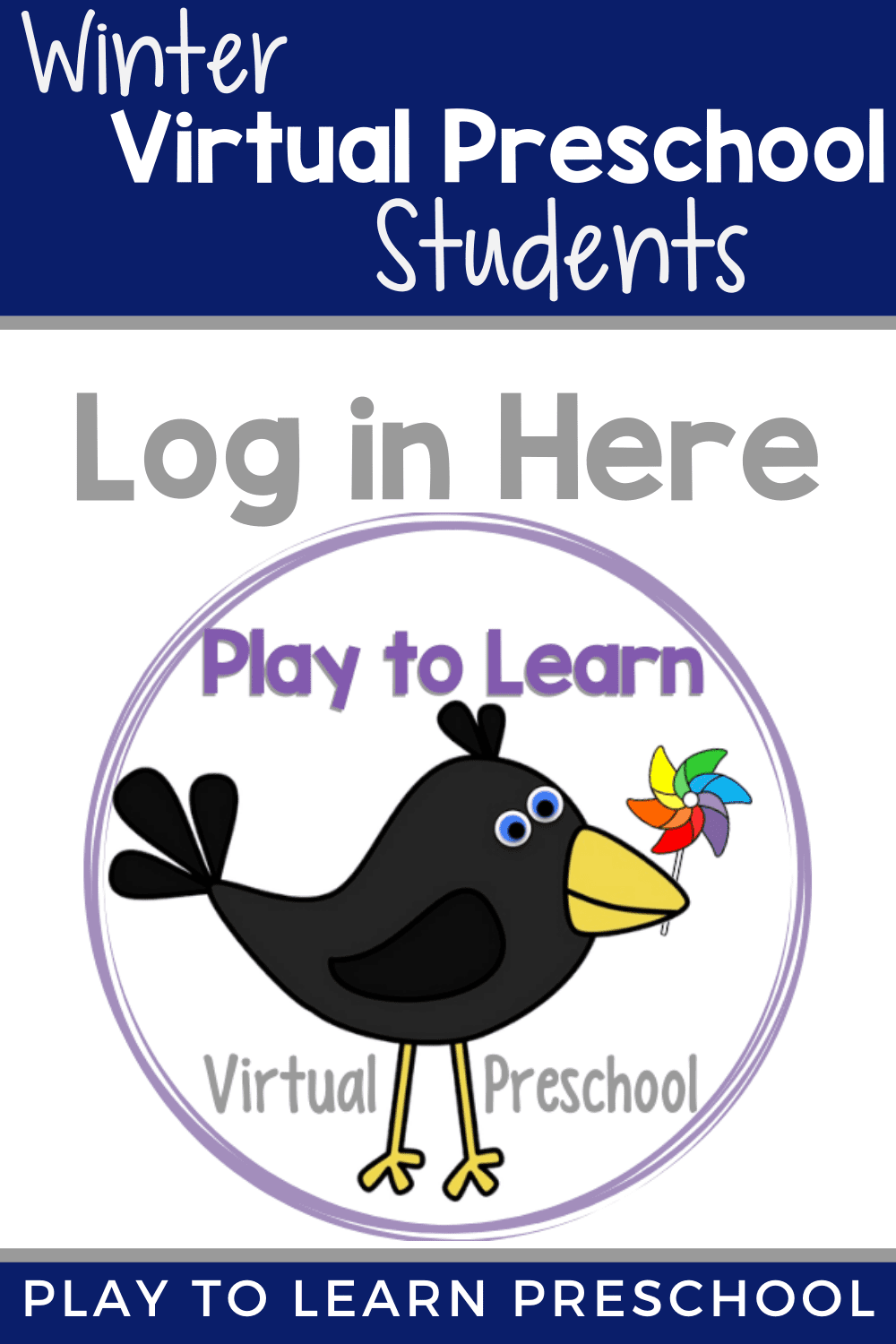Virtual Preschool Student Log in