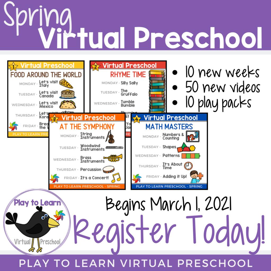 Join Virtual Preschool Spring 2021
