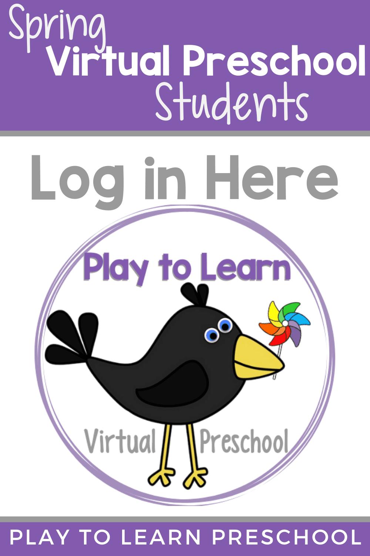 Virtual Preschool Student Log in