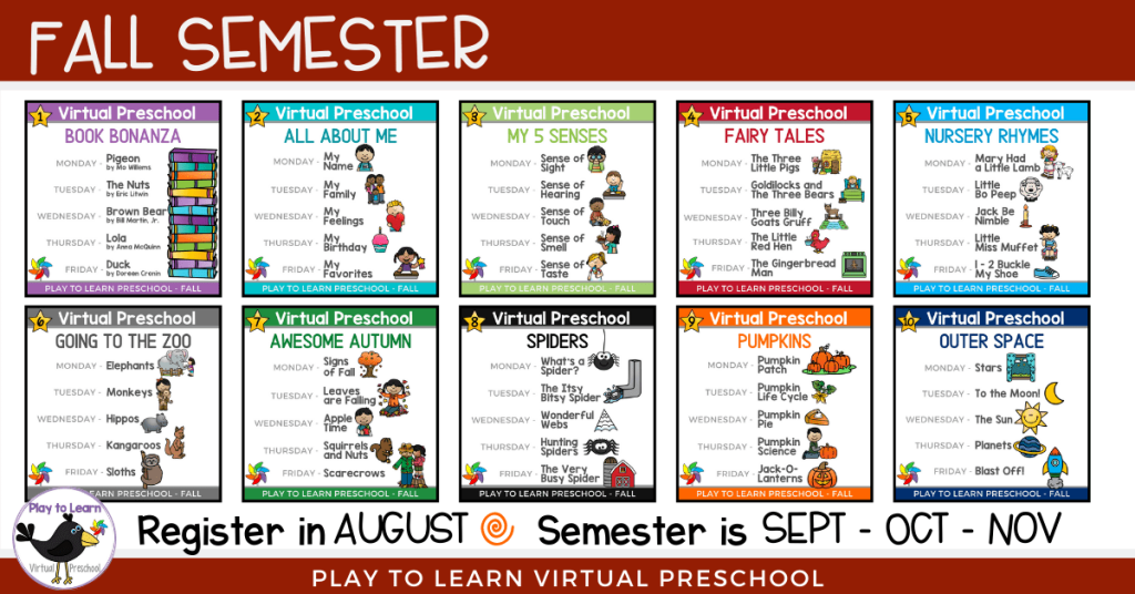 Fall Semester with Dates