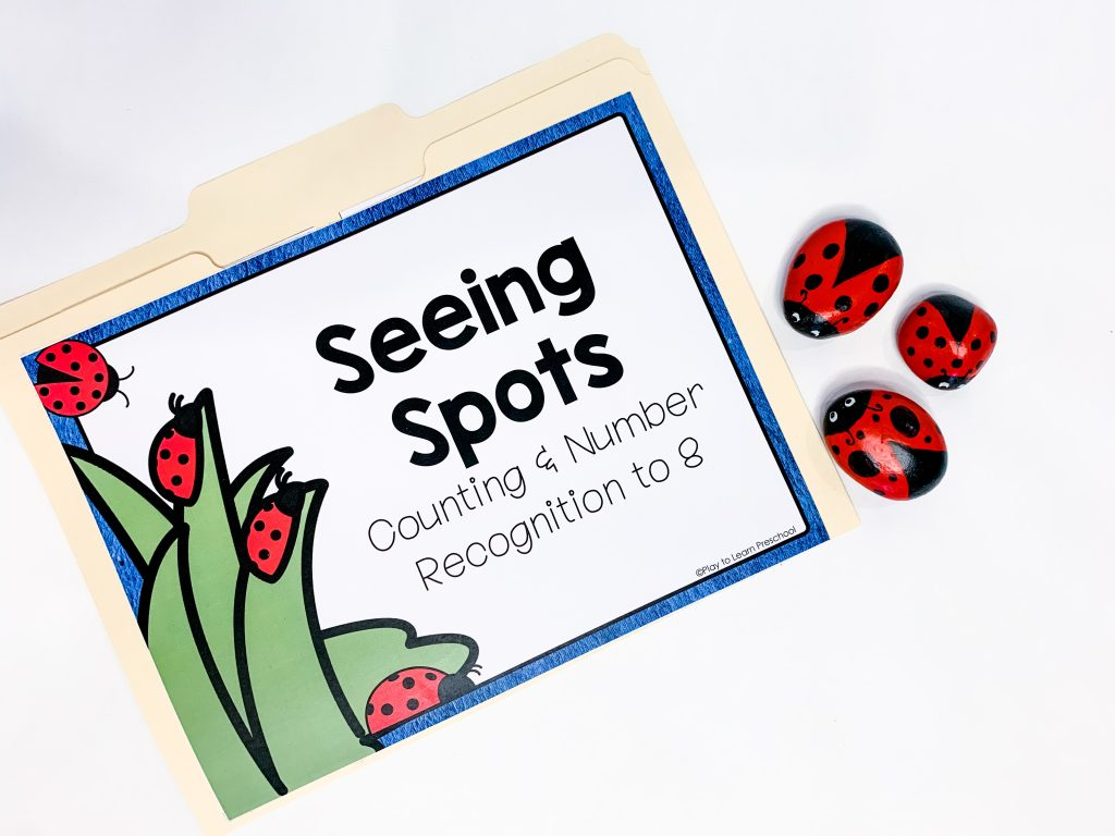 """A """"seeing spots"""" counting file folder game"""